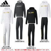 adidas(アディダス)MESSENTIALSビッグリニアロゴスウェットフルジップ上下セット(DUV62/DUV61)(スポーツ/トレーニング/パーカー/パンツ/男性用/メンズ)