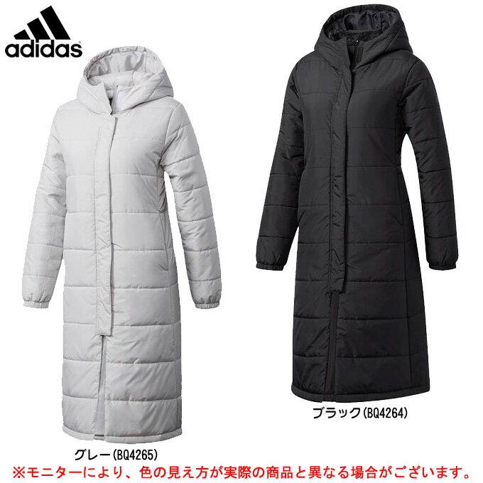 adidas(アディダス)ウイメンズ ロングパデッドコート(DUW50)(スポーツ/トレーニング/カジュアル/ダウンジャケット/防寒/女性用/レディース)