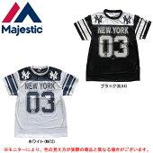 MAJESTIC(マジェスティック)ニューヨーク・ヤンキースフットボールシャツ(MM01NYK0263)(野球/ベースボール/MLB/メジャーリーグ/スポーツ/カジュアル/男性用/メンズ)