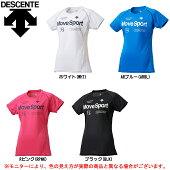 DESCENTE(デサント)クールトランスファーハーフスリーブシャツ(DMWLJA56)(MoveSport/スポーツ/トレーニング/カジュアル/半袖/Tシャツ/女性用/レディース)