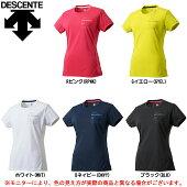 DESCENTE(デサント)サンスクリーンハーフスリーブシャツ(DMWLJA62)(MoveSport/スポーツ/トレーニング/カジュアル/半袖/Tシャツ/女性用/レディース)