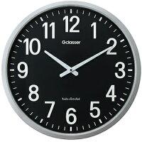 【あす楽可】大きな文字盤電波掛時計ザラージ黒文字盤GDK-001Kキングジムオシャレな「黒文字盤」ショールームなどの空間にマッチ