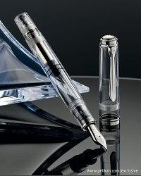 【送料無料】【あす楽対応】ペリカンPelikan万年筆スーベレーンM805デモンストレーター特別生産品透明無地刻印無しペン先EFFMBピストンメカニズム名前入れは不可