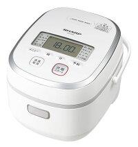 【あす楽対応】【送料無料】シャープIHジャー炊飯器5.5合KS-HA10-Wホワイト系高火力IHで、ムラなく火が通る玄米やおかゆもおまかせ「多彩な炊飯メニュー」