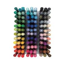 トンボ鉛筆グラフィックマーカー「ABT」全108色セットAB-T108CBULKカラーツインマーキングペン筆ペンタイプ水性染料鮮やかな発色イラストハンドレタリングに