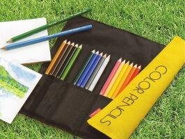 【宅配便あす楽可】【定形外500円可】トンボ鉛筆ロールケース入色鉛筆36色NQCR-NQ36C黄色のパッケージでおなじみコンパクトで軽い布製ロールケース入り持ち運びに最適色鉛筆セット