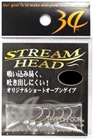 【THIRTYFOUR】ストリームヘッドStreamhead1.0g【4562337302111】