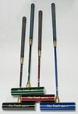 ゲートボールスティック 伸縮タイプ 45×200ステンレスヘッド・糸入り丸ゴムグリップ回転式スライド型シャフト ゲートボール用品