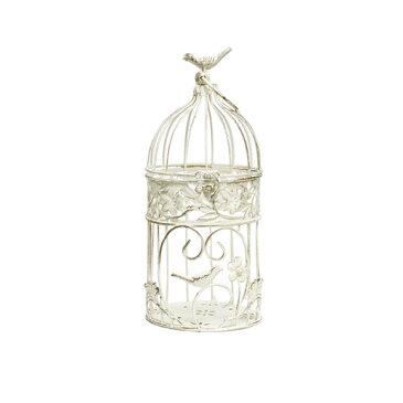 鳥かご / アンティークバードケージホワイトS aab14-s15w アイアン【取り寄せ商品】 大同クラフト