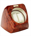 Diplomat ディプロマット ウォッチワインダー Burl Wood Double Watch Winder with Leather Interior and Multi-Setting Smart IC Timer 送料無料 【並行輸入品】 1