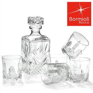 <ボルミオリ ロッコ> ウイスキー デカンタ ギフト デキャンター&グラス Bormioli Rocco 7点セット 送料無料 【並行輸入品】