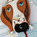 バックリードッグ 振り子時計 アレン デザイン 振り子時計 Allen Designs Buckley Dog Clock 動物 犬 骨 置き時計 掛け時計 P1160 送料…
