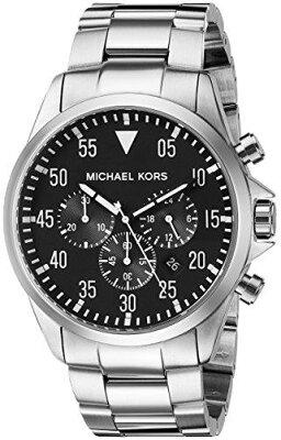 送料無料マイケルコース(MichaelKors)男性用腕時計メンズウォッチシルバー【MK8413】プレゼントおしゃれかわいい