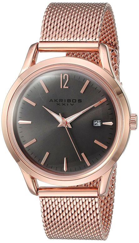 334cfb6d46e4 アクリボス Akribos XXIV 女性用 腕時計 レディース ウォッチ グレー AK930GY 送料無料 アクリボス Akribos XXIV  腕時計 ウォッチ 時計 スイス 34623279