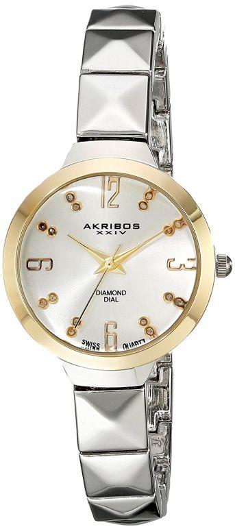 アクリボス Akribos XXIV 女性用 腕時計 レディース ウォッチ シルバー AK793SS  【並行輸入品】