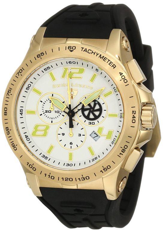 スイスレジェンド Swiss Legend 男性用 腕時計 メンズ ウォッチ クロノグラフ ホワイト 10040-YG-02S  【並行輸入品】
