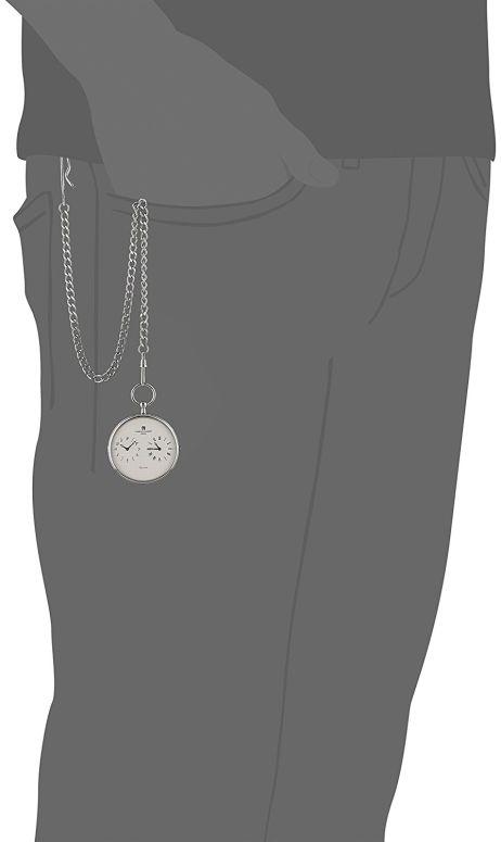 チャールズヒューバート Charles-Hubert, Paris 男女兼用 懐中時計 ユニセックス ポケット ウォッチ ホワイト 3970-W  【並行輸入品】