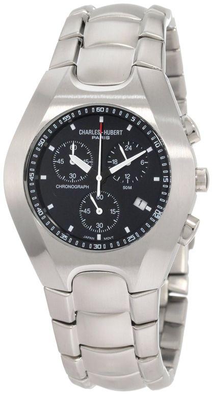 チャールズヒューバート Charles-Hubert, Paris 男性用 腕時計 メンズ ウォッチ クロノグラフ ブラック 3573-B