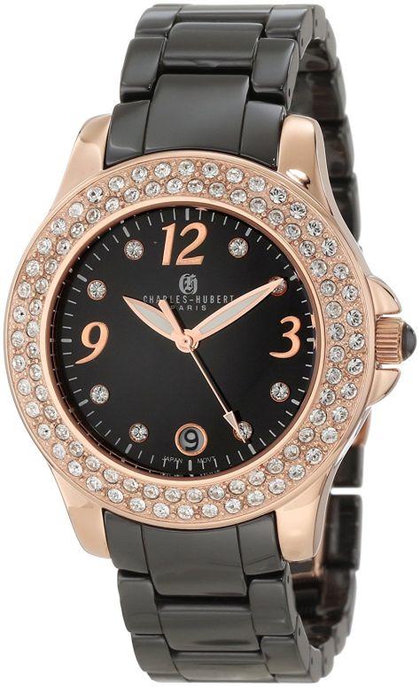 チャールズヒューバート Charles-Hubert, Paris 女性用 腕時計 レディース ウォッチ ブラック 6789-BRG
