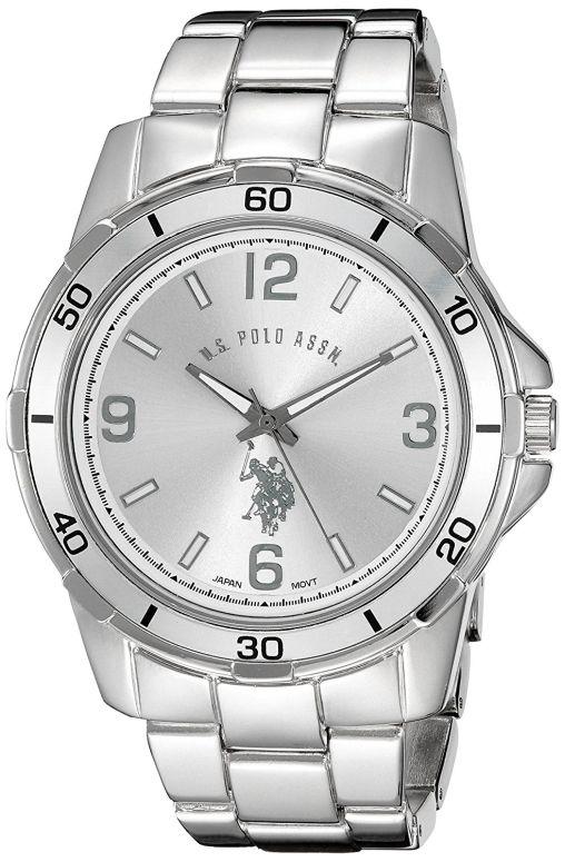 ユーエス ポロ アッスン U.S. Polo Assn. 男性用 腕時計 メンズ ウォッチ シルバー USC80296  【並行輸入品】