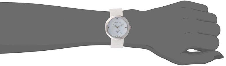 アクリボス Akribos XXIV 女性用 腕時計 レディース ウォッチ パール AK738SS  【並行輸入品】