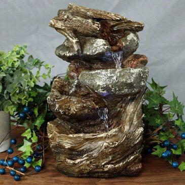 卓上 噴水 滝のオブジェ テーブルトップファウンテン インテリア噴水 Sunnydaze Tiered Rock and Log Tabletop Fountain with LED Lights, 10.5 InchSunnydaze Tiered Rock and Log Tabletop Fountain with LED Lights, 10.5 Inch