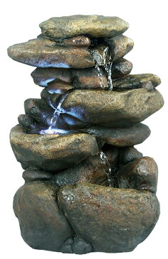卓上 噴水 滝のオブジェ テーブルトップファウンテン インテリア噴水 Alpine WIN472 Three Tiered Rock Tabletop Fountain with LED Lights, 11 Inch TallAlpine WIN472 Three Tiered Rock Tabletop Fountain with LED Lights, 11 Inch Tall