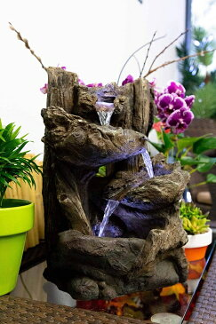 卓上 噴水 滝のオブジェ テーブルトップファウンテン インテリア噴水 Alpine WIN794S Five Tier Rainforest Tabletop Fountain with LED Lights, 14 Inch TallAlpine WIN794S Five Tier Rainforest Tabletop Fountain with LED Lights, 14 Inch Tall
