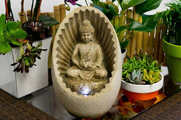 卓上 噴水 滝のオブジェ テーブルトップファウンテン インテリア噴水 Alpine WIN322 Buddha Tabletop Fountain with LED LightAlpine WIN322 Buddha Tabletop Fountain with LED Light