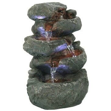 卓上 噴水 滝のオブジェ テーブルトップファウンテン インテリア噴水 Sunnydaze Stacked Rocks Tabletop Water Fountain with LED Lights, 10.5 InchSunnydaze Stacked Rocks Tabletop Water Fountain with LED Lights, 10.5 Inch