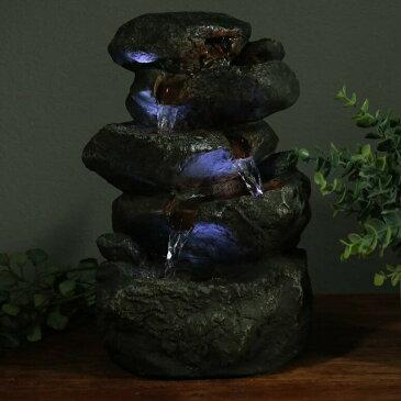 卓上 噴水 滝のオブジェ テーブルトップファウンテン インテリア噴水 Sunnydaze Stacked Rocks Tabletop Water Fountain with LED Lights, 10.5 InchSunnydaze Stacked Rocks Tabletop Water Fountain with LED Lights, 10.5 Inch