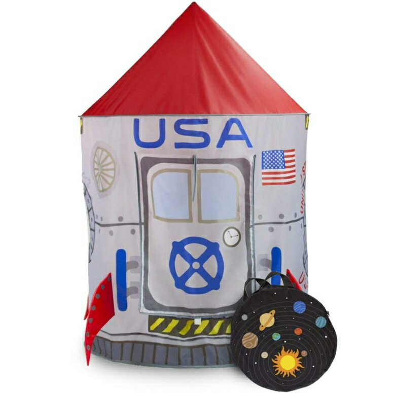 宇宙テント アストロノーツ ロケット  Space Adventure Roarin' Rocket Play Tent with Milky Way Storage Bag ? Indoor/Outdoor Children's Astronaut Spaceship Playhouse, Great for Ball Pit Balls and Pretend Play by Imagination Generation  【並行輸入品】