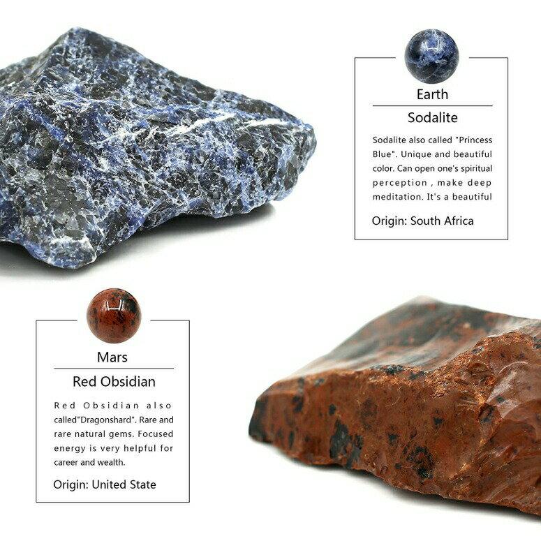 惑星 プラネット 太陽系風の天然石セット STAR DREAM スタードリーム TongYue Desk Planets Handmade Natural Gemstone Celestial Creative Gift Home Decorations  【並行輸入品】