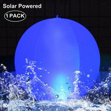太陽光充電 ソーラーパワー プールライト ボール 約35cm Esuper Floating Ball Pool Light Solar Powered 4 Pack, 14 Inch Inflatable Hangable IP68 Waterproof Rechargeable 4 Color Changing Led Glow Globe Pool Night Lamp for Garden, Backyar 送料無料 【並行輸入品】