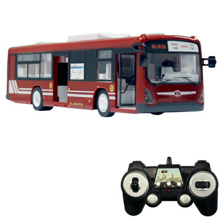 ラジコン・ドローン, その他  fisca RC Truck Remote Control Bus, 6 CH 2.4G Car Electronic Vehicles Opening Doors and Acceleration Function Toys for Kids with Sound and Light (Red)