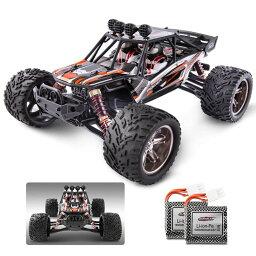 ラジコン BEZGAR 8 Hobbyist Grade 1:12 Scale Remote Control Truck, 2WD High Speed 38 Km/h All Terrains Electric Toy Off Road RC Monster Vehicle Car Crawler with 2 Rechargeable Batteries 【並行輸入品】