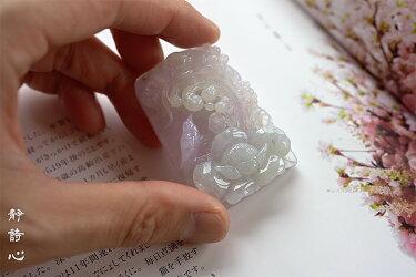【送料無料】翡翠(ヒスイ)彫刻ペンダント・置物