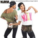 MJDIVA◆袖ロールアップBACKリボン-デザインTシャツ2