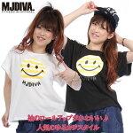 MJDIVA◆SMILE袖ロールアップTシャツ