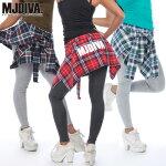 MJDIVA◆チェックシャツ付ストレッチレギンス1