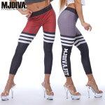 MJDIVA◆3LINEスポーツストレッチレギンス