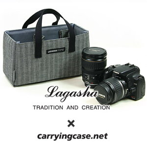 LAGASHA +Carryingcase.net オプション カメラ用インナー(M) ヘリンボーンデニムモデル(ラガシ...