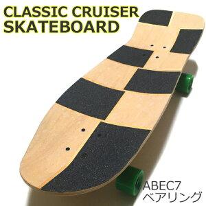 30.5インチ(77.5cm)オールドスクールデッキスケートボード2クルーザータイプウィール硬さ80A装着ベアリングABEC7