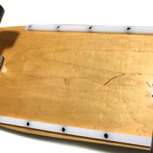 WOODYPRESSカービングトラック装着30.5インチ(77.5cm)スケートボードオールドスクールデッキタイプRibBonesRails装着仕様