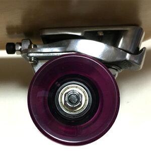 サーフスケートボードTHRUSTER2(スラスター)装着31インチ(78cm)スケートボードABEC7ベアリングクリアパープルウィール