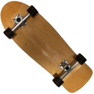 WOODYPRESSカービングトラック装着30.5インチ(77.5cm)スケートボードオールドスクールデッキタイプウィール78Aクリアブラック