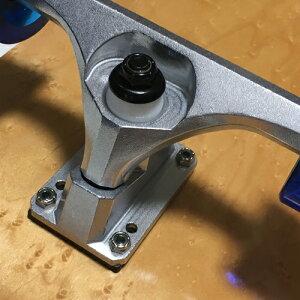 WOODYPRESSカービングトラック装着30.5インチ(77.5cm)スケートボードオールドスクールデッキタイプウィール78Aクリアブルー