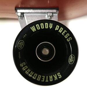 WOODYPRESS31インチカービングトラック装着サーフスケートボード65mm78AウィールカスタムモデルWOODRED
