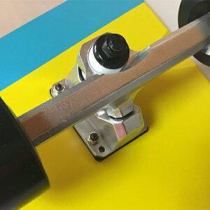 別注WOODYPRESS32インチウッディープレスコルクデッキカービングトラック装着モデルサーフスケートボードスケボー