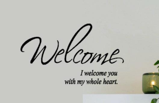 ウォールステッカー ウェルカム welcome おしゃれ 北欧 壁紙 玄関 シンプル 壁シール 壁ステッカー 結婚式 壁紙 インテリア マンション はがせる 北欧雑貨 アクセント 文字 練習用おまけ付き メール便 送料無料 wall sticker home シール